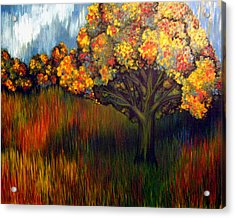 Acrylic Print featuring the painting Gumball Tree 0002 A.k.a. Mud by Monica Furlow
