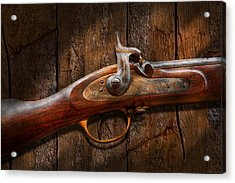 Gun - Musket - London Armory  Acrylic Print by Mike Savad