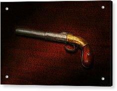Gun - The Shooting Iron Acrylic Print by Mike Savad