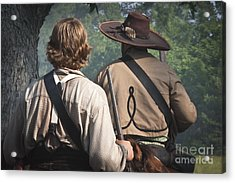 Guns By Our Side We Ride Acrylic Print by Kim Henderson