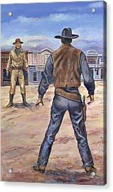 Gunslingers Acrylic Print