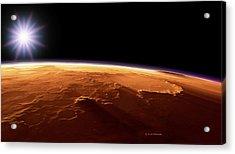 Gusev Crater, Mars, Artwork Acrylic Print by Detlev Van Ravenswaay