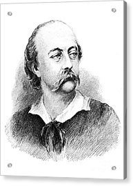 Gustave Flaubert, French Author Acrylic Print by Photo Researchers