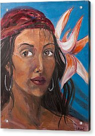 Gypsy Acrylic Print by Sophie Brunet