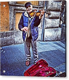 Gypsy Violin #travel #violin #gypsy Acrylic Print