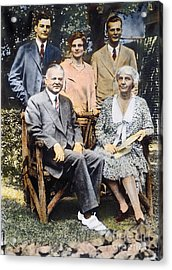 H. Hoover And Family Acrylic Print by Granger