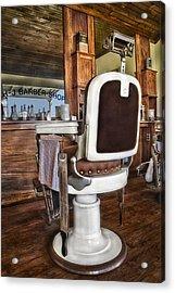 H J Barber Shop Acrylic Print by Susan Candelario