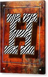 H Acrylic Print by Mauro Celotti