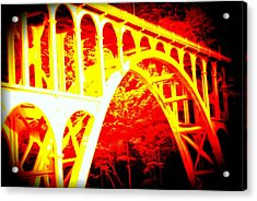 Haceta Head Bridge In Abstract Acrylic Print