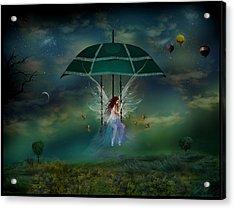 Hada De La Noche Acrylic Print by Raul Villalba