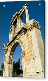 Hadrians Arch In Athens, Greece Acrylic Print by Richard Nowitz