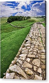 Hadrian's Wall Acrylic Print by Wendy White