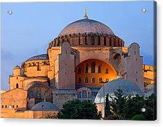 Hagia Sophia At Dusk Acrylic Print by Artur Bogacki