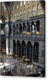 Hagia Sophia Interiour I Acrylic Print by Christiane Schulze Art And Photography