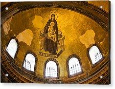 Hagia Sophia Mosaic Acrylic Print by Artur Bogacki