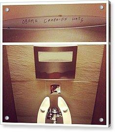 Hahaha Campaign Hats Acrylic Print