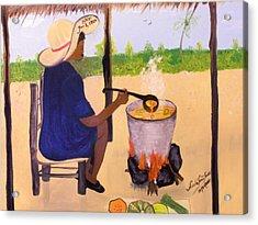 Haitian Pumpkin Soup Acrylic Print by Nicole Jean-Louis