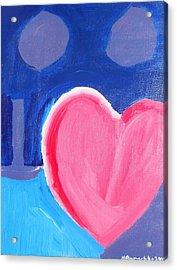 Half Hearted Acrylic Print