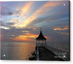 Half Moon Sunset  Acrylic Print by Anne Gordon