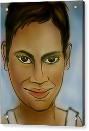 Halle Berry Acrylic Print by Pete Maier