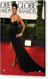 Halle Berry  Wearing A Nina Ricci Gown Acrylic Print by Everett