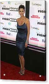 Halle Berry Wearing A Rachel Roy Dress Acrylic Print by Everett