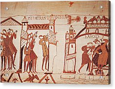 Halleys Comet, Bayeux Tapestry Acrylic Print by Photo Researchers