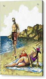 Hallo Acrylic Print by Alexandros Koumpios