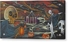 Acrylic Print featuring the painting Halloween Circus by Christophe Ennis