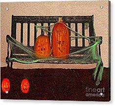 Halloween Decoration Acrylic Print by Merton Allen