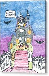 Halloween Must Go On Acrylic Print by Michael Mooney