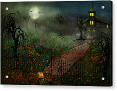 Halloween - One Hallows Eve Acrylic Print by Mike Savad