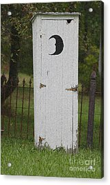 Halloween Outhouse Acrylic Print by Marilyn West