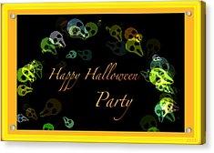 Halloween Party Acrylic Print by Debra     Vatalaro