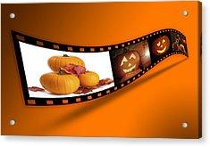 Halloween Pumpkin Film Strip Acrylic Print