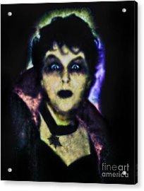 Halloween Vampire Look Acrylic Print by Alexandra Jordankova
