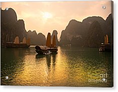 Acrylic Print featuring the photograph Halong Bay - Vietnam by Luciano Mortula