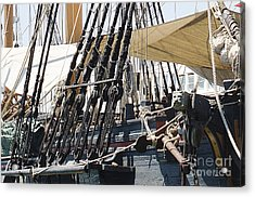 Acrylic Print featuring the photograph Halyards And Sheets by MaryJane Armstrong
