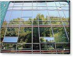 Hamburg Building Reflection Acrylic Print by Eva Kaufman