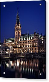 Hamburg City Hall Acrylic Print by Benjamin Matthijs