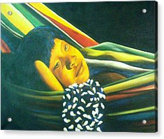 Hammock Child Acrylic Print by Unique Consignment