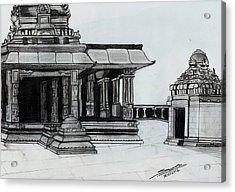 Hampi Stone Structure 2 Acrylic Print by Shashi Kumar