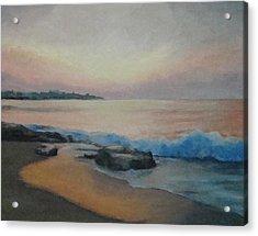 Hampton Beach Predawn Acrylic Print by Mark Haley