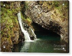 Hana Waterfall Acrylic Print by Scott Pellegrin
