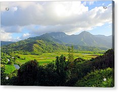 Hanalei Valley View Acrylic Print by John  Greaves