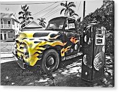 Hanapepe Truck - Yellow Highlights Acrylic Print