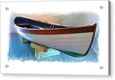 Hand Crafted Boat Painting Acrylic Print by Earl Jackson