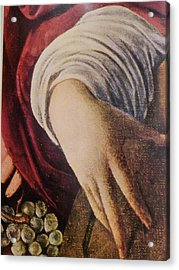 Hand Of The Lute Player From The Musicians Caravaggio Acrylic Print by Jake Hartz