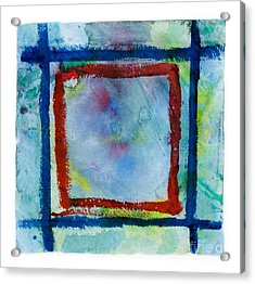 Hand Painted Square Frame   Acrylic Print
