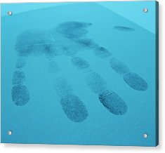 Hand Print Acrylic Print by Lawrence Lawry